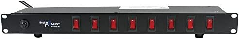 1U Rack Mount Outlet Strip 8 Switched Outlets