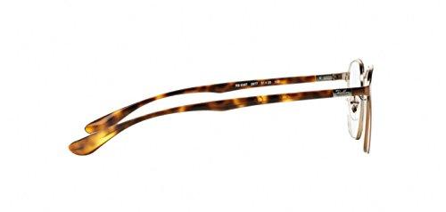 Ray Ban Optical Montures de lunettes RX6357 Black, 48mm 2877: Brushed Light Brown