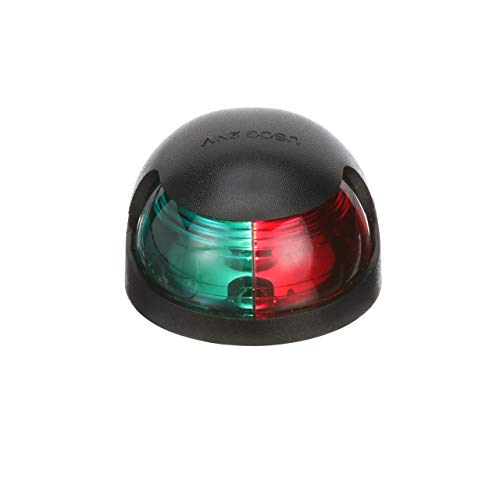 (Attwood Corporation 3000.1581 Light, Navi Red/Green, 7-Inchlead Black Skin Pack)