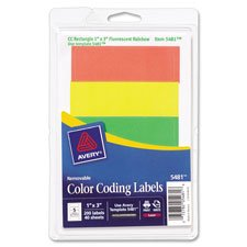 Removable Labels, Rectangle, 1