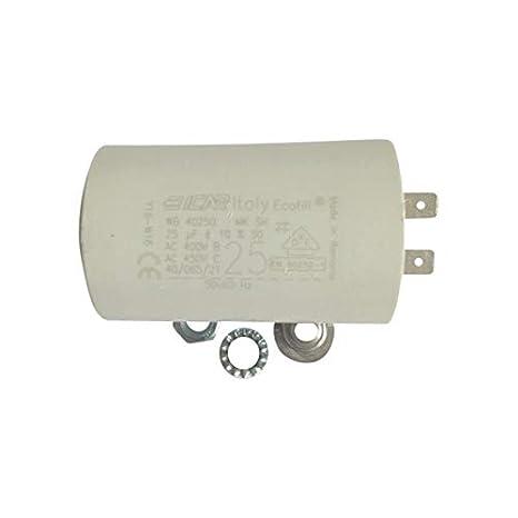Condensador permanente motor de terminales 25 µF para Karcher, 2 terminales: Amazon.es: Iluminación