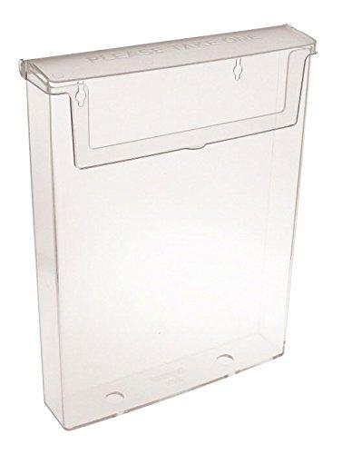 Taymar-Porta brochure e Dispenser per brochure, formato A4 confezione da 1 trasparente OD230