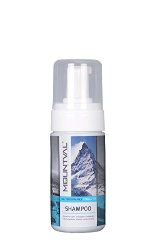 - Mountval Shampoo, Cleansing Foam For Hiking Clothes And Gear, Cleans Water-Repellent Garments