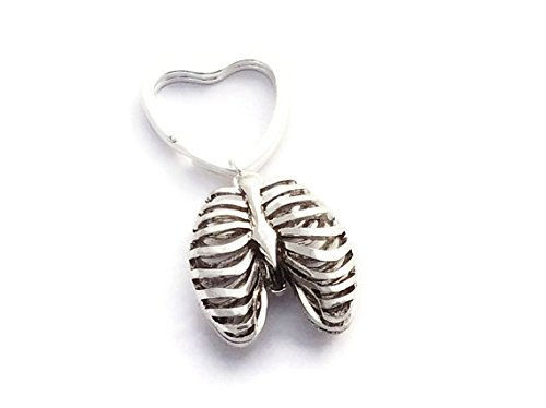 Ribcage Keyring, Rib Cage Keychain, Skeleton Key Ring, Gothic Accessories, Skeletal Ribs Jewelry, Heavy Metal Gifts, Punk Rocker Gift Ideas ()