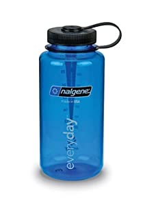 Nalgene 32 oz Wide Mouth Reusable Bottle, Tritan, in Blue