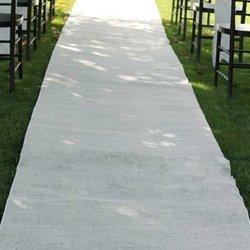 Burlap Wedding Aisle Runner, 36 inch x 100 ft, Rustic, White