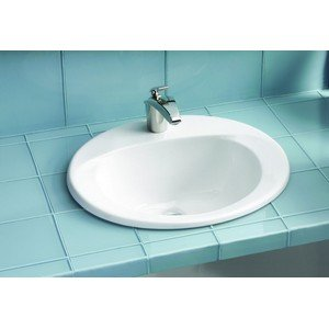 Toto LT511.8G#11 Supreme Self-Rimming Lavatory Sink, Colonial White 17' Self Rimming Lavatory Sink