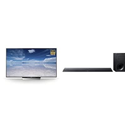 Sony 55X850D 55-Inch 4K HDR Ultra HD TV and HTCT790 Sound Bar with 4K and HDR Support