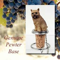(Norwich Terrier Dog Wine Bottle Stopper - DTB79 by Conversation Concepts)