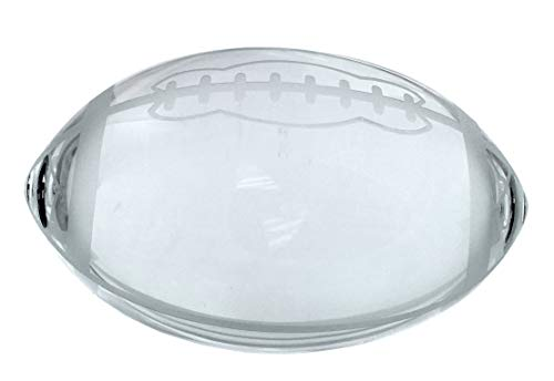 (Amlong Crystal Football Paperweight 3.5 inch with Gift Box )