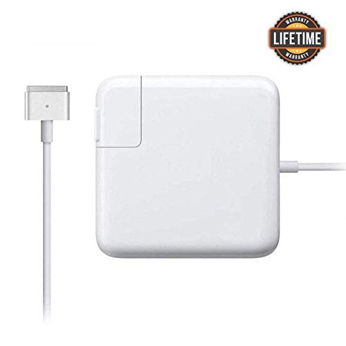 Mac Book Pro Charger, AC Power T-Tip 85W Magsafe 2 Connector Magnetic Adapter Charger Compatible with Replacement for Mac Book Pro 13 Inch 15 Inch and 17 Inch Retina Display(After Late Mid 2012)