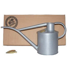Haws V177T Indoor Metal 2-Pint/1-Liter Watering Can with Rose and Gift Box, Titanium