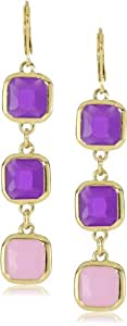 """kate spade new york """"Frame Of Mind"""" African Violet Lilac Linear Earrings"""