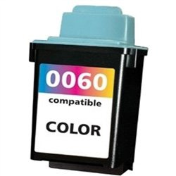 Ink Now Premium Remanufactured COLOR Cartridge for Lexmark Z12, Z22, Z32 Printers, OEM part number 17G0060, #60