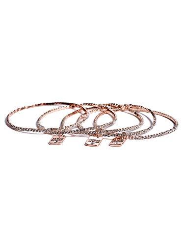 GUESS Factory Women's Mixed-Metal Pave Stretch Bracelet Set ()