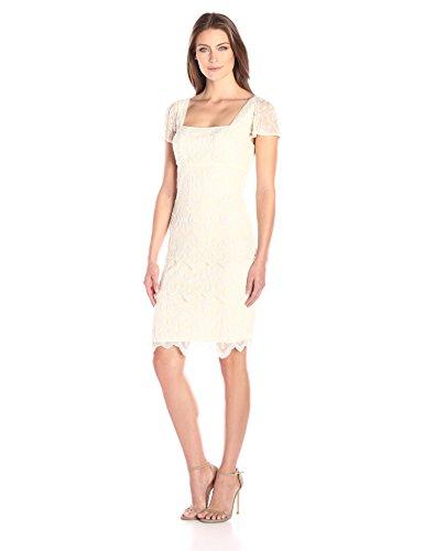 Pisarro Nights Women's S/S Leaf Motiff Dress W/ Teired Layer Bottom