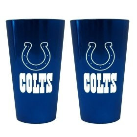 (Indianapolis Colts Lusterware Pint Glass - Set of 2)
