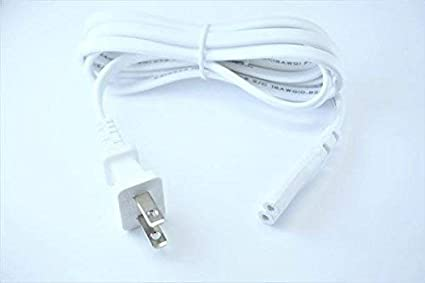OMNIHIL White 10 Feet Long AC Power Cord Compatible with Polk Audio Omni S6 Wireless Speaker UL Listed