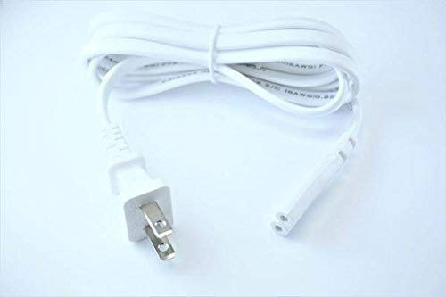[UL Listed] OMNIHIL White 10 Feet Long AC Power Cord Compatible with Yamaha WXA-50, WXC-50 MusicCast Wireless Streaming Preamplifiers