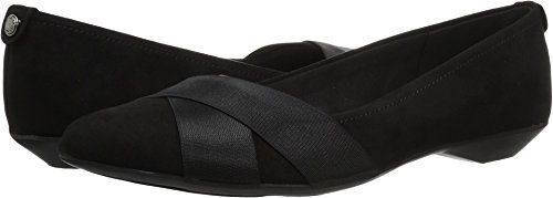 Anne Klein AK Sport Women's Oalise Ballet Flat, Black Fabric, 8.5 M US