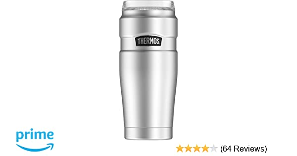 61faf46629f Thermos Stainless King 20 oz Travel Tumbler with 360 Drink Lid, Stainless  Steel