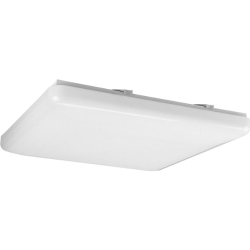 Progress Lighting P7380-30 Energy Efficient Long-Lasting Lamps with Acrylic Diffuser and Standard 120 Volt Normal Power Factor Ballasts That Can Be Wall Mounted UL Listed For Damp Locations, White (30 White Acrylic Diffuser)