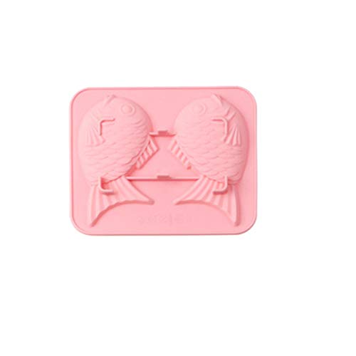 (Mikey Store Home cake mold,Footprint silicone baking mold ice cube mold handmade soap pudding mold Baking Tray 3D (Pink) )
