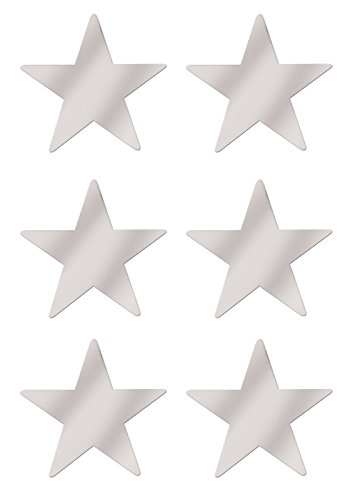 Beistle S50998SAZ6, 6 Piece Jumbo Foil Star Cutouts, 20