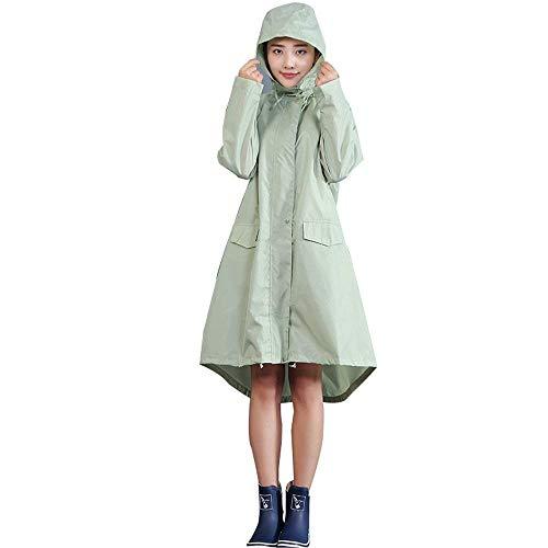 Escursionismo Donna Trench Traspirante Poncho Fashion Impermeabile Young Grün Siamese Lungo Moda 74w5RO