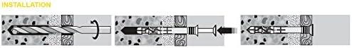 200 St/ück PROFI Nageld/übel 6 x 50 mm Nylon Schlagd/übel Einschlagd/übel D/übel vormontiert Senkkopf mit Schraubnagel