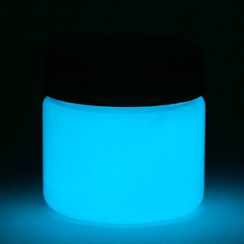 Fluorescent Glow in The Dark Paint - 1 Ounce (Fluorescent Blue) - 5+ Colors Available