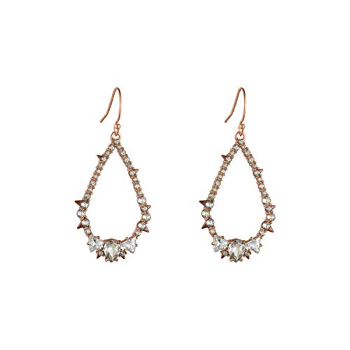 Alexis Bittar Women's Crystal Encrusted Spike Tear Earrings, Rose Gold -