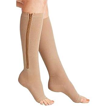 cb397072b1c Amazon.com  Zipper Medical Compression Socks With Open Toe - Best ...
