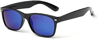Unisex Polarised Vintage UV400 Rectangular Retro Black Frame Lense Sunglasses