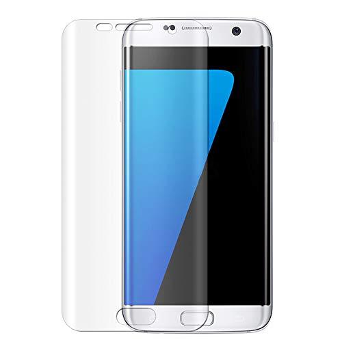 感謝している女優件名Samsung Galaxy S7 Edge ガラスフィルム GerTong 強化ガラス液晶保護フィルム 飛散防止 曲面 指紋防止 炭素繊維 気泡ゼロ 硬度9H 全面フルカバー (クリア)