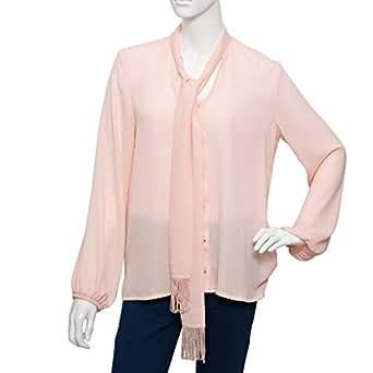Parkland Orange Polyester V Neck Blouse For Women