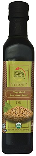 Toasted Oil (Organic Toasted Sesame Oil - 100% USDA Certified - Natural, Wholesome and Tasty - 8.45 FL. OZ. (250 ml) - Certified Kosher - From Natural Earth)