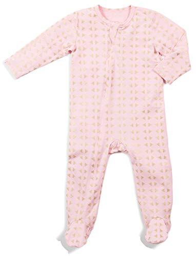 Egg Baby Classic Zipper Footie, Pink, 12MO