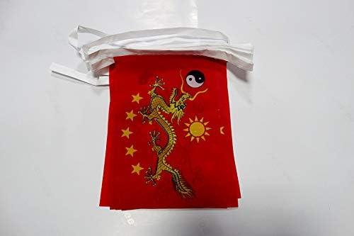 AZ FLAG Guirnalda 6 Metros 20 Banderas de China Imperial Nuevo ...