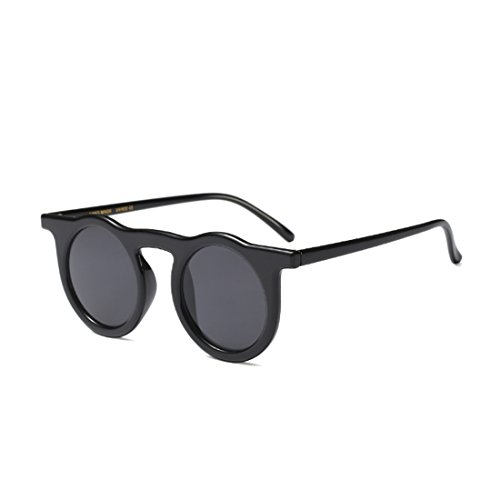 redondo Oscuro Aiweijia Vintage mujer Gris de resina Gafas marco sol 0fvzwBqf