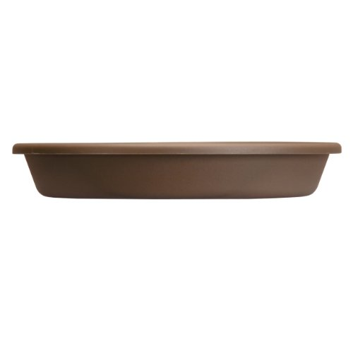 Flower Chocolate Pots - Akro Mils SLI24000E21 Deep Saucer for Classic Pot, Chocolate, 21-Inch