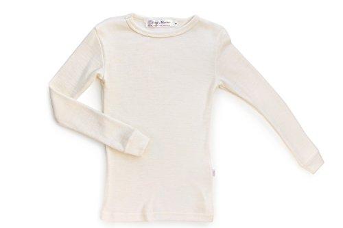Merino Wool Kid White boy and Girl. Thermal Underwear Base Layer Unisex. Size 6 by Simply Merino (Image #7)