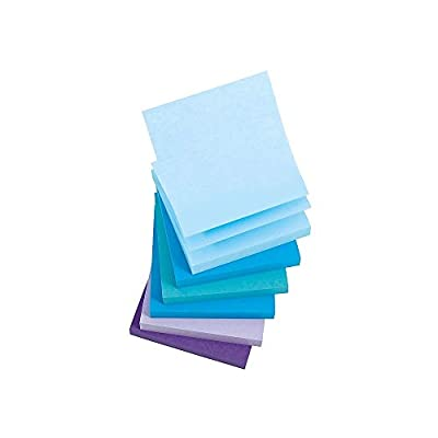 """Staples Stickies 3"""" x 3"""" Assorted Watercolor Pop-Up Notes, 6/Pack of 100= 600 Notes Pads"""