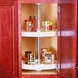 "KV Lazy Susan Full Round 2 Polymer Shelves 20"" (Set) White"