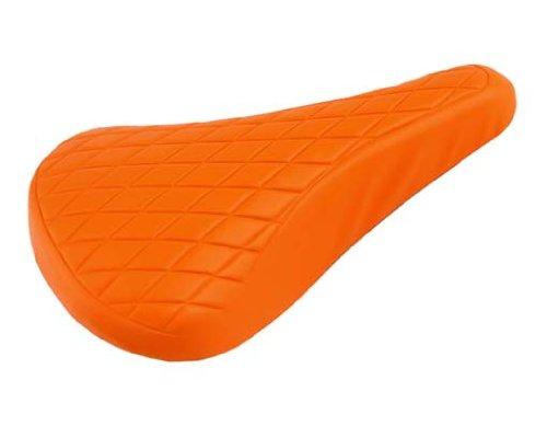 Vinyl Saddle Diamond 702 Orange. Bike seat, bicycle seat, Bike part, bicycle part, lowrider bike part, bmx, free style, fixie, road, beach criuser, stretch