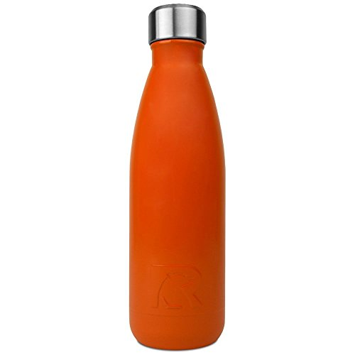 RTIC Double Wall Vacuum Insulated Water Bottle, 17 oz, Orange
