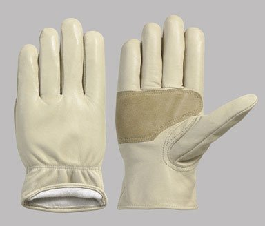 Pr x 2: Ace Goatskin Lined Leather Driver Gloves (2051-M) - Ace Shirred Gloves