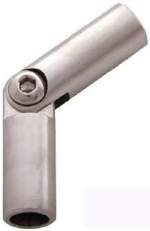 Edelstahldiscounter S013736 Codo de uni/ón de barras articulado 12 mm, acero inoxidable