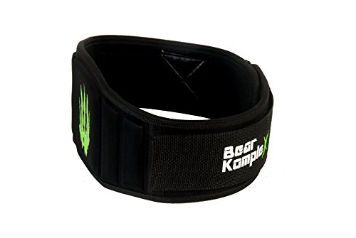 Bear KompleX Weightlifting belt for Powerlifting, Cross Training, Squats, Weights and more. Low profile velcro with super firm back for maximum stability and exceptional comfort. Easily Adjustable