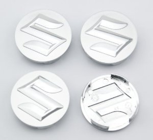 Car-Emall Suzuki 54mm Outer Diameter Silver Wheel Center Hub Caps Cover 4-pc Set Special Offer